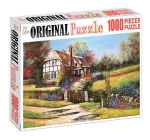 Village Hut is Wooden 1000 Piece Jigsaw Puzzle Toy For Adults and Kids