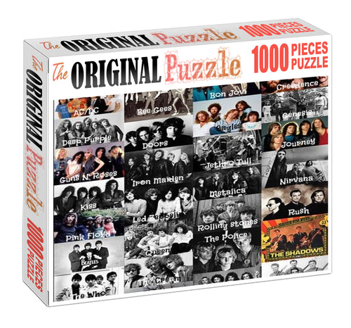 Bandas de Rock Wooden 1000 Piece Jigsaw Puzzle Toy For Adults and Kids