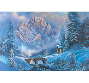 Snowy Mount Hill is Wooden 1000 Piece Jigsaw Puzzle Toy For Adults and Kids