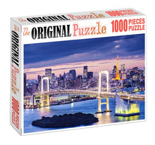 London's Bright Bridge Wooden 1000 Piece Jigsaw Puzzle Toy For Adults and Kids