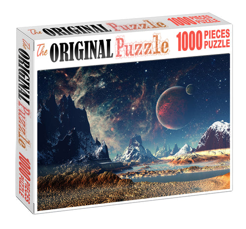 Moon Planet Wooden 1000 Piece Jigsaw Puzzle Toy For Adults and Kids