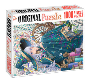 Sewing with Threads Wooden 1000 Piece Jigsaw Puzzle Toy For Adults and Kids