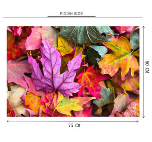 Autumn Leafs Wooden 1000 Piece Jigsaw Puzzle Toy For Adults and Kids