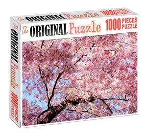 Pink Blossoms Wooden 1000 Piece Jigsaw Puzzle Toy For Adults and Kids