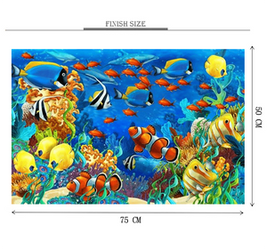 Aquarium is Wooden 1000 Piece Jigsaw Puzzle Toy For Adults and Kids