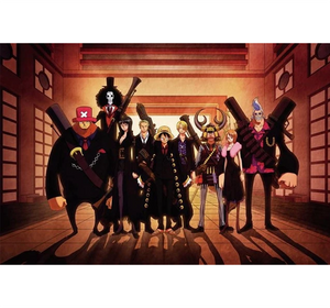 One Piece Black Version Wooden 1000 Piece Jigsaw Puzzle Toy For Adults and Kids