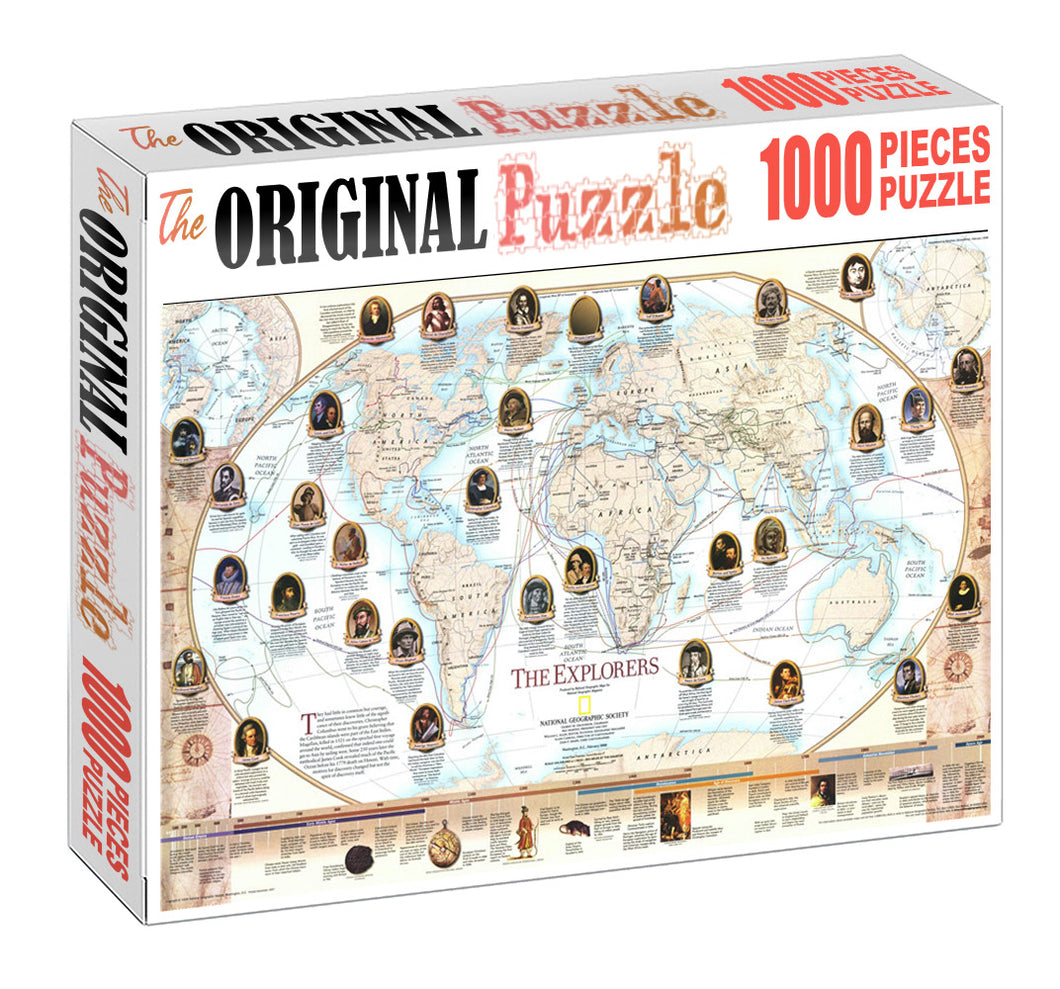 The Explorers Wooden 1000 Piece Jigsaw Puzzle Toy For Adults and Kids
