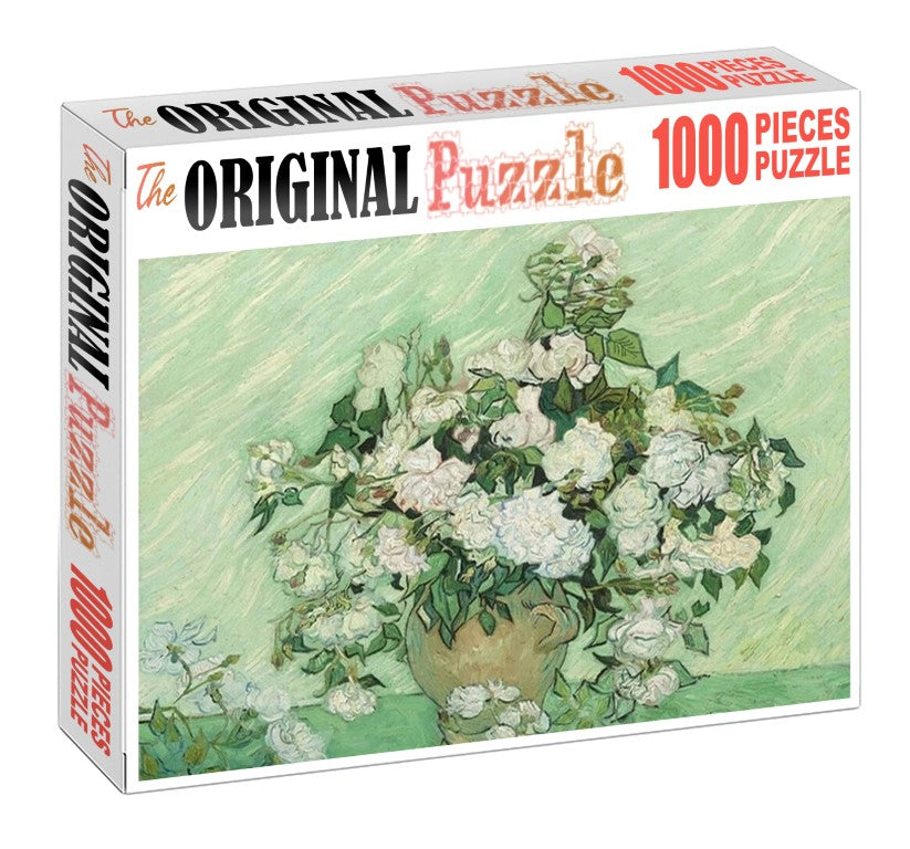 Rose Vase Painting is Wooden 1000 Piece Jigsaw Puzzle Toy For Adults and Kids