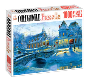 Winters Preparation is Wooden 1000 Piece Jigsaw Puzzle Toy For Adults and Kids