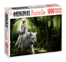 Leader of Wolf is Wooden 1000 Piece Jigsaw Puzzle Toy For Adults and Kids