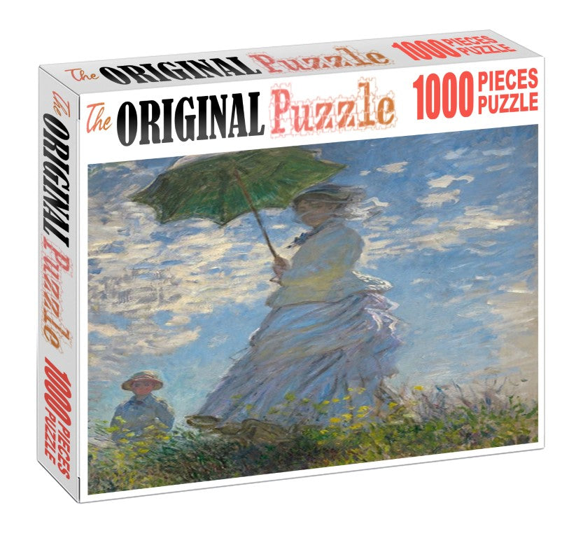 Lady with Umbrella Wooden 1000 Piece Jigsaw Puzzle Toy For Adults and Kids