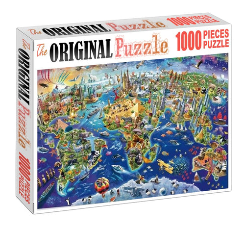 Animal World is Wooden 1000 Piece Jigsaw Puzzle Toy For Adults and Kids