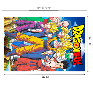Dragon Ball Poster is Wooden 1000 Piece Jigsaw Puzzle Toy For Adults and Kids