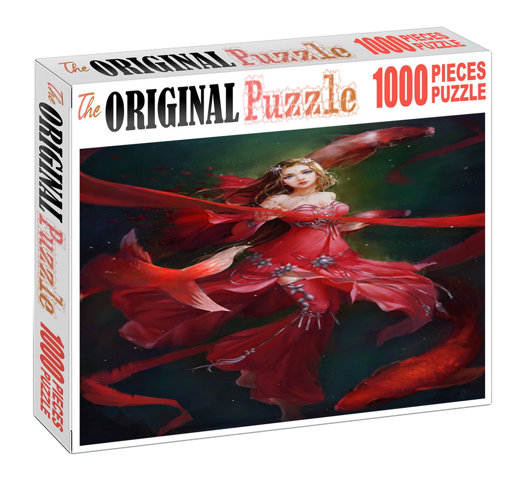 Blood Queen is Wooden 1000 Piece Jigsaw Puzzle Toy For Adults and Kids