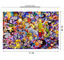 Dragon Ball Anime Characters is Wooden 1000 Piece Jigsaw Puzzle Toy For Adults and Kids