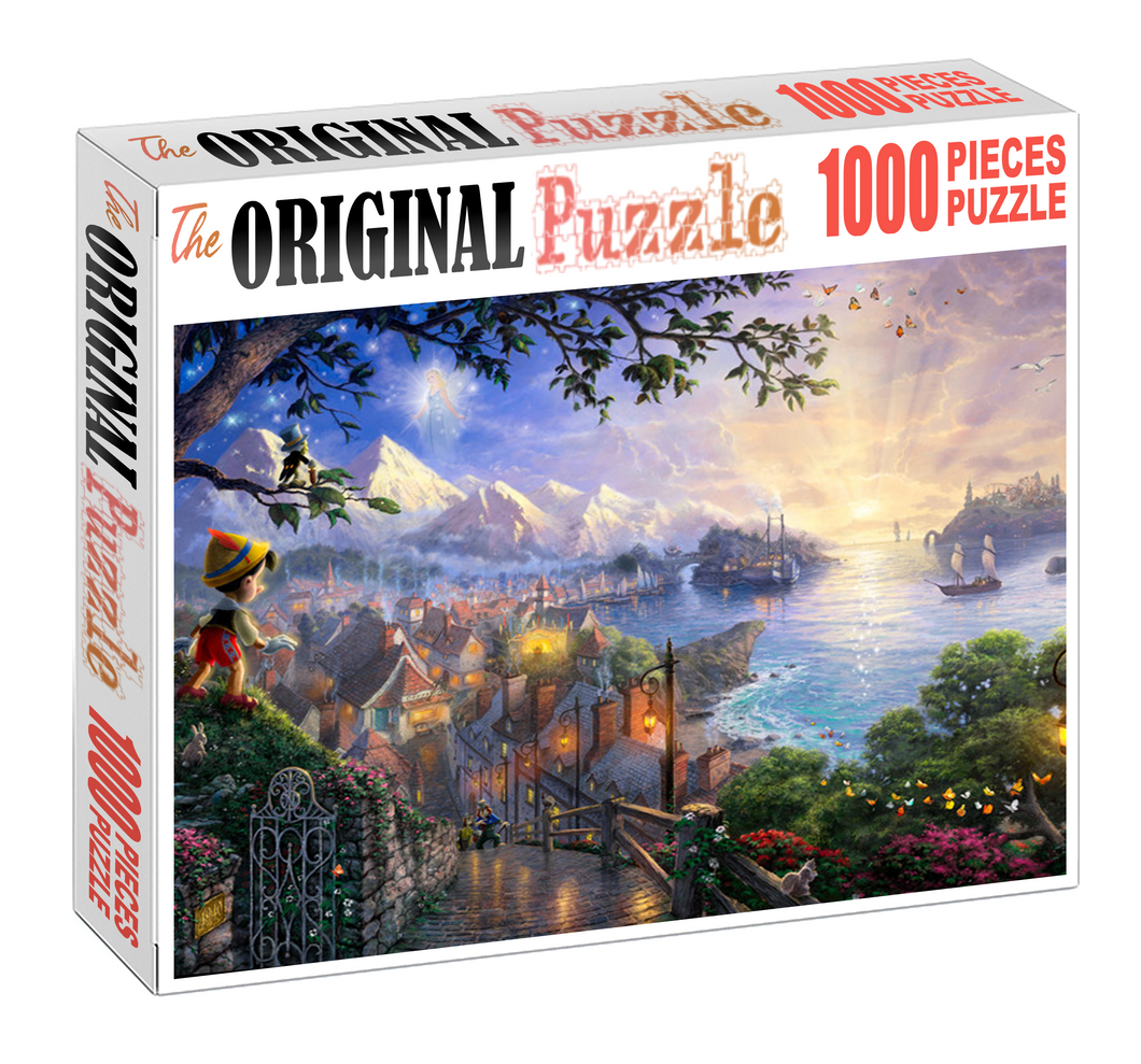 A Pinocchio Wooden 1000 Piece Jigsaw Puzzle Toy For Adults and Kids