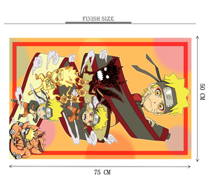A Naruto Wooden 1000 Piece Jigsaw Puzzle Toy For Adults and Kids