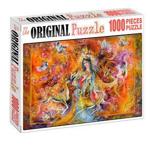 Ancient Art of Lady Wooden 1000 Piece Jigsaw Puzzle Toy For Adults and Kids