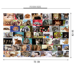Cat Breeds Wooden 1000 Piece Jigsaw Puzzle Toy For Adults and Kids