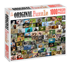 Breeds of Pets Wooden 1000 Piece Jigsaw Puzzle Toy For Adults and Kids