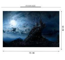 Dark Castle of Sky is Wooden 1000 Piece Jigsaw Puzzle Toy For Adults and Kids