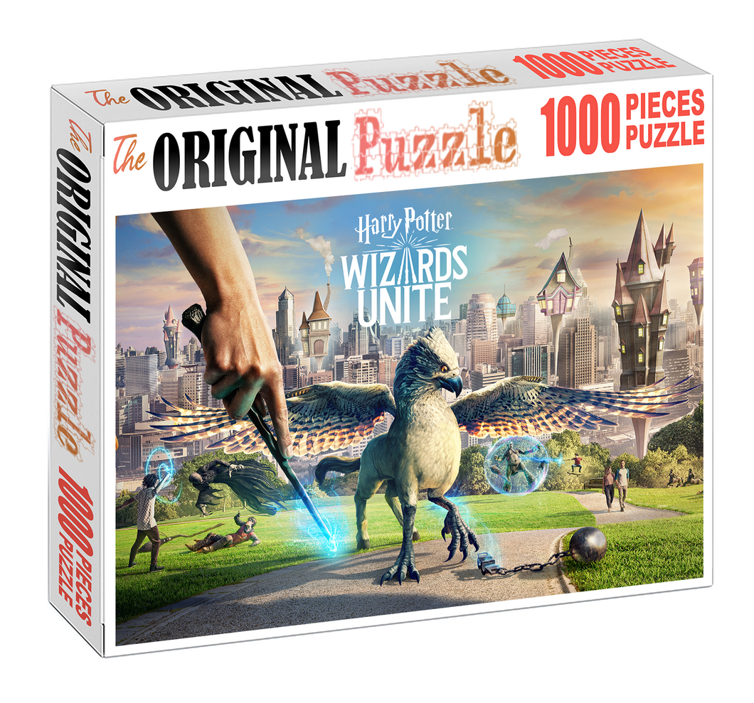 Wizards Unite is Wooden 1000 Piece Jigsaw Puzzle Toy For Adults and Kids