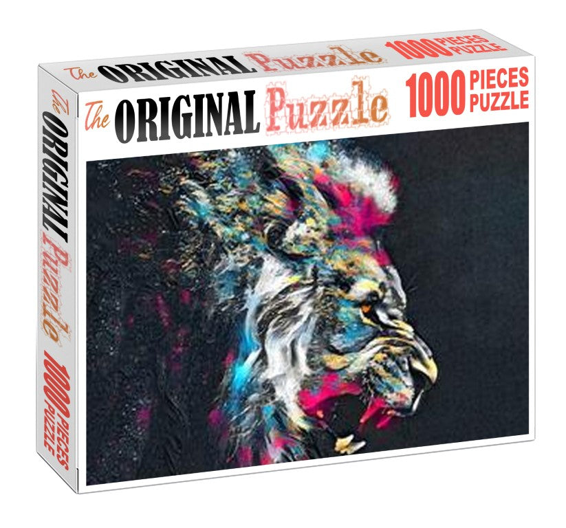 Lion POP Art Wooden 1000 Piece Jigsaw Puzzle Toy For Adults and Kids