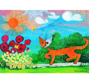 Cat Drawing Wooden 1000 Piece Jigsaw Puzzle Toy For Adults and Kids