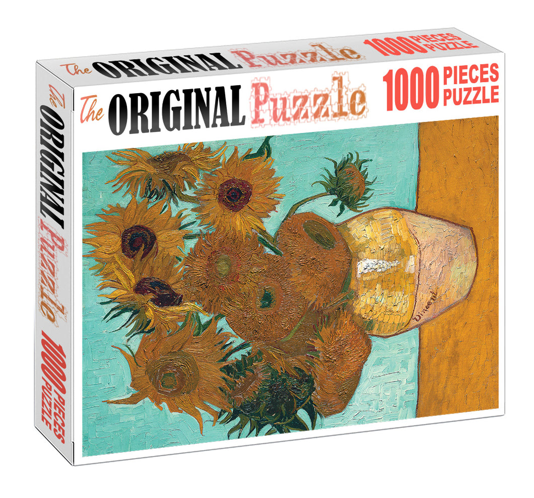 Flower Vase is Wooden 1000 Piece Jigsaw Puzzle Toy For Adults and Kids