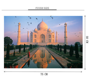 Evening Taj Mahal is Wooden 1000 Piece Jigsaw Puzzle Toy For Adults and Kids