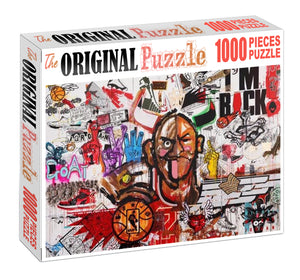 I am Back Graffity Wooden 1000 Piece Jigsaw Puzzle Toy For Adults and Kids