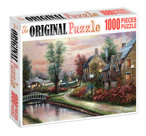 Village of Pristine is Wooden 1000 Piece Jigsaw Puzzle Toy For Adults and Kids