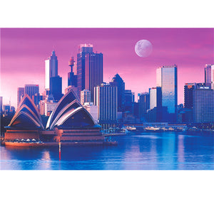 Sydney's Vector Art is Wooden 1000 Piece Jigsaw Puzzle Toy For Adults and Kids