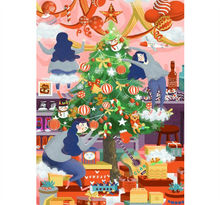 Decorating Christamas Tree Wooden 1000 Piece Jigsaw Puzzle Toy For Adults and Kids