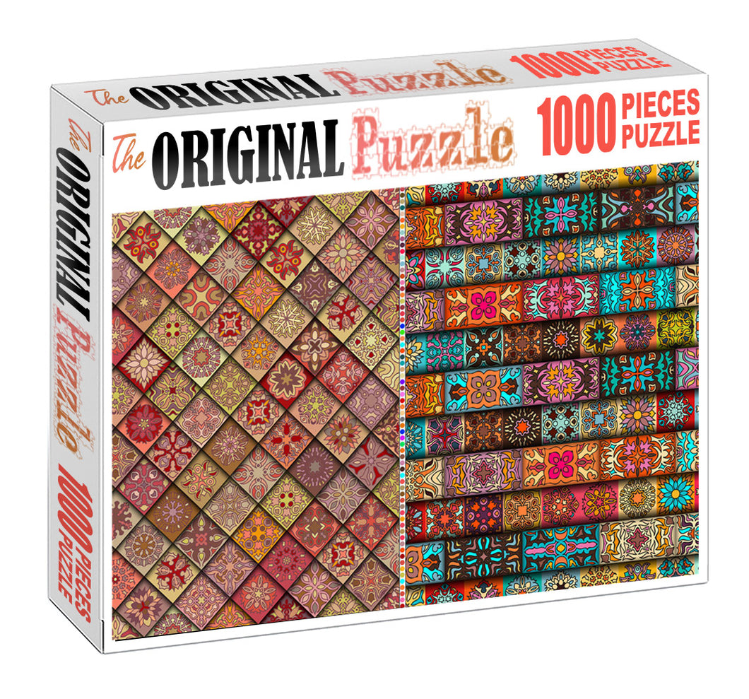 Fabric Design is Wooden 1000 Piece Jigsaw Puzzle Toy For Adults and Kids