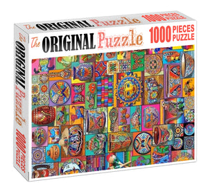 Pots Clipsarts Wooden 1000 Piece Jigsaw Puzzle Toy For Adults and Kids