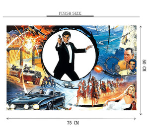 James Bond 007 is Wooden 1000 Piece Jigsaw Puzzle Toy For Adults and Kids