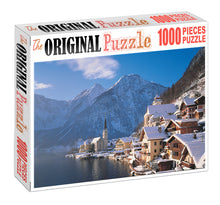 City Near Mountian is Wooden 1000 Piece Jigsaw Puzzle Toy For Adults and Kids