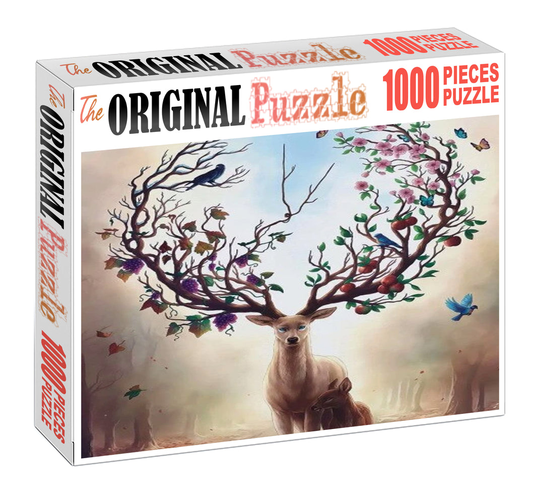 Raindeer of Fruits Wooden 1000 Piece Jigsaw Puzzle Toy For Adults and Kids