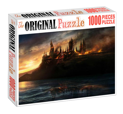 Burning Castle Wooden 1000 Piece Jigsaw Puzzle Toy For Adults and Kids