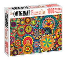Floral Mandela Art Wooden 1000 Piece Jigsaw Puzzle Toy For Adults and Kids