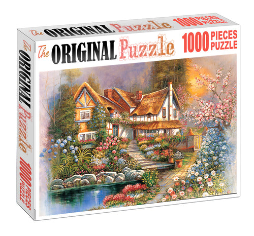 Blooming Flowers is Wooden 1000 Piece Jigsaw Puzzle Toy For Adults and Kids