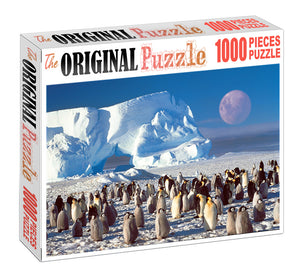 Penguins is Wooden 1000 Piece Jigsaw Puzzle Toy For Adults and Kids