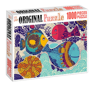Fish Bubble Art Wooden 1000 Piece Jigsaw Puzzle Toy For Adults and Kids