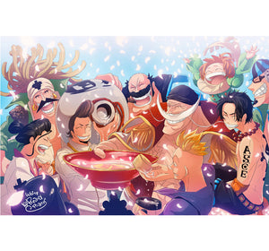 Drinking Sake Pirate is Wooden 1000 Piece Jigsaw Puzzle Toy For Adults and Kids