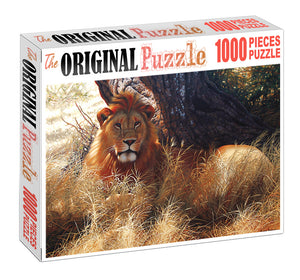 Lion Watching Wooden 1000 Piece Jigsaw Puzzle Toy For Adults and Kids