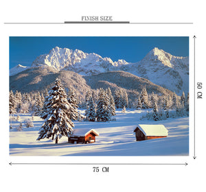 Snow Season is Wooden 1000 Piece Jigsaw Puzzle Toy For Adults and Kids