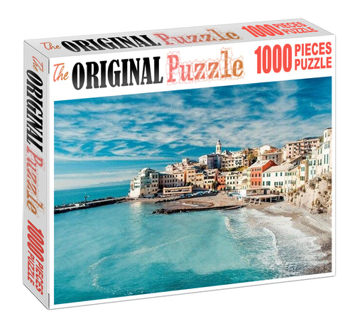 City of Blue Sea Wooden 1000 Piece Jigsaw Puzzle Toy For Adults and Kids