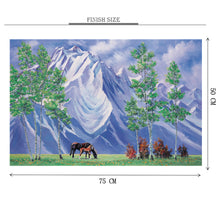 Quality Horse Breed is Wooden 1000 Piece Jigsaw Puzzle Toy For Adults and Kids