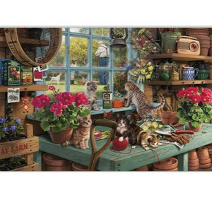 House of Kittens Wooden 1000 Piece Jigsaw Puzzle Toy For Adults and Kids
